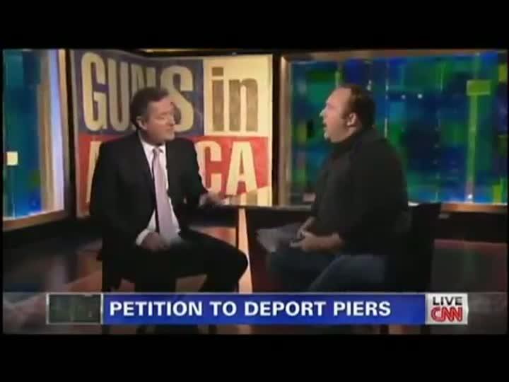 Piers Morgan vs. Alex Jones: Gun Control