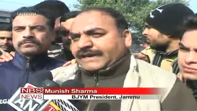 BJYM protest against brutal killings of army jawans