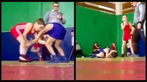 Little Kid's Freestyle Wrestling Suplex