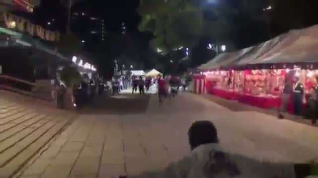 Raw - Runners Dash Through Japan Shrine for Luck