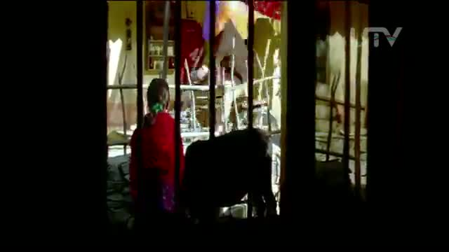 Blue Umbrella (2005) - Pankaj Kapoor celebrates with umbrella