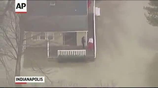 Heavy Rain Floods Parts of Indiana