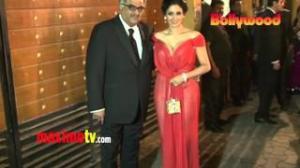 Sridevi 58th IDEA FILMFARE Awards 2013 ARRIVALS in Mumbai