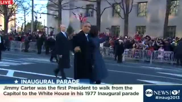Inauguration Day 2013: President Obama, First Lady Walk Parade Route
