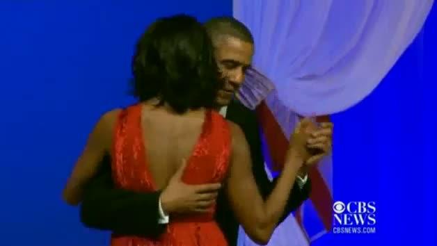 Michelle Obama, President Obama Dance At Inaugural Ball
