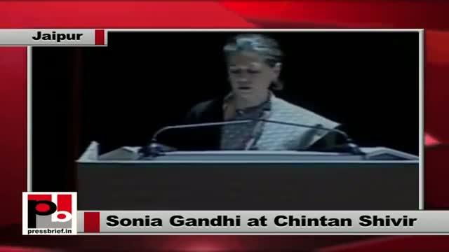 Sonia Gandhi delivers the opening address at Congress' Jaipur Chintan Shivir