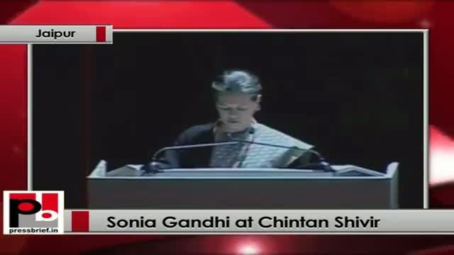 Sonia Gandhi at Chintan Shivir praises UPA government's welfare policies
