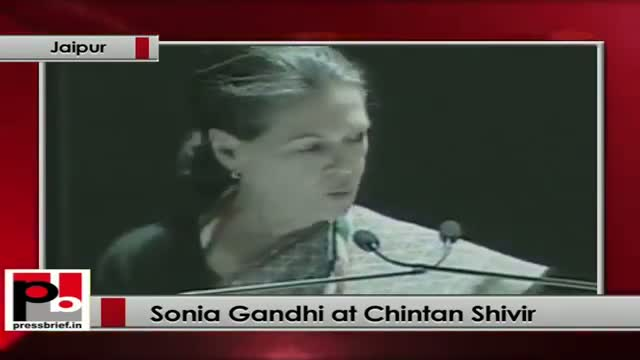 Sonia Gandhiat Chintan Shivir: We should address the issue of correction more seriously