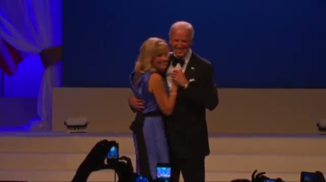 """Bidens Dance to """"I Can't Stop Loving You"""""""
