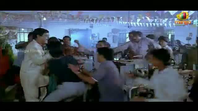 Mondi Mogudu Penki Pellam Scenes - Suman raids Kota Srinivasa Raos factory - Suman, Vijayashanti - Telugu Cinema Movies