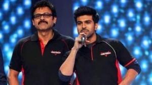 Venkatesh & Ram Charan At CCL Curtain Raiser 2013