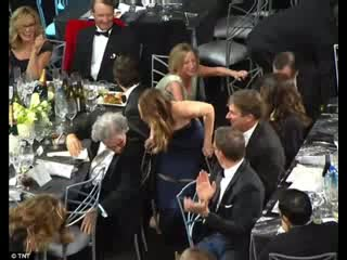 Jennifer Lawrence WINS & Suffers From Wardrobe Malfunction At SAG Awards 2013