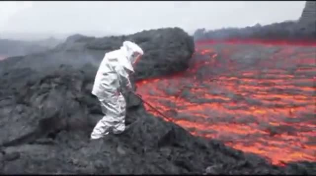 Lava Flows From Russian Volcano