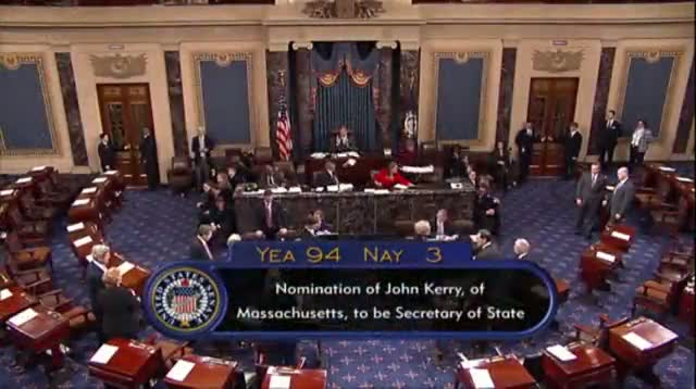 Senate Confirms Kerry Nomination