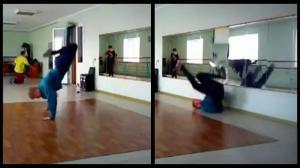 Glass-Shattering Breakdance Fail