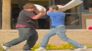 Spontaneous Pillow Fights