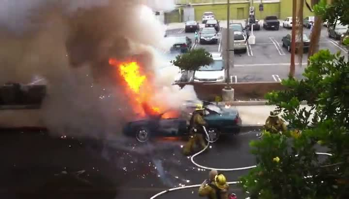 August 19th 2011- Los Angeles Car Explosion