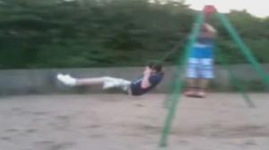 Swing Dismount Faceplant
