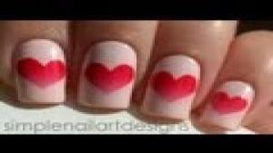 Valentine's Day Heart Nail Art Tutorial - Happy Valentine's Day