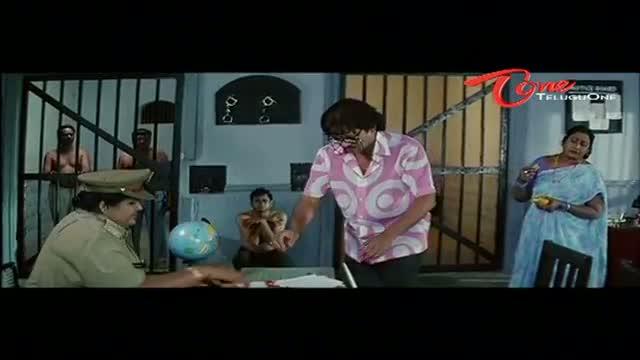 Telugu Comedy Scene From Rajendra Prasad's Andagadu Movie - Police Station Scene Between Rajendra Prasad & M S Narayana - Telugu Cinema Movies