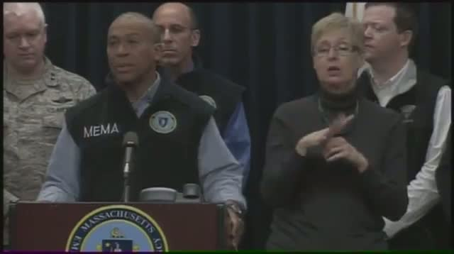 Mass. Governor: 'Hazards' Expected After Snow