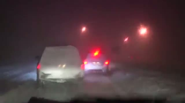 Near Whiteout Conditions on Conn. Roads