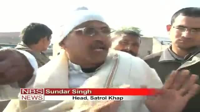 Hisar's Khap Panchayat punishes an accuse at police station