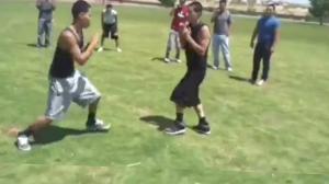 High School Fight Between Classes