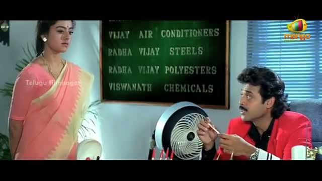 Pavitra Bandham Scenes - Soundarya tricked by Venkatesh - Venkatesh, Soundarya - Telugu Cinema Movies