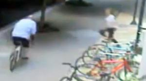 Girl Tackles a Bike Thief