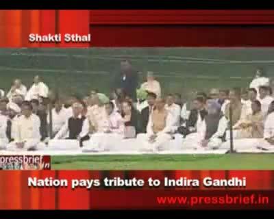 Nation pays tribute to Indira Gandhi,31th Oct. 2011