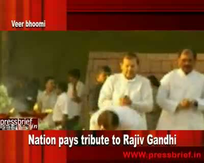 Nation pays tribute to Rajiv Gandhi 21st May 2010