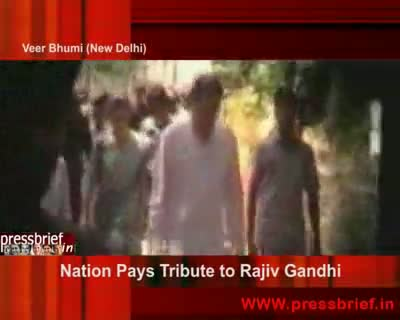 Nation Pays Tribute to Rajiv Gandhi 21st May 2009