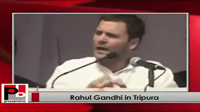Rahul Gandhi campaigns in Tripura; takes on Left front Govt.
