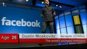 Facebook founders Dustin Moskovitz and Mark Zuckerberg named world's youngest billionaires  - Top 10 Youngest Billionaires