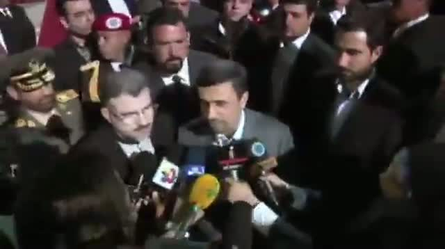 Ahmadinejad in Venezuela for Chavez Funeral
