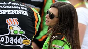 Danica Patrick hit in head by Rock on Dirt Track