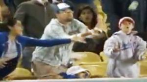 Dad Drops Daughter to Catch Baseball