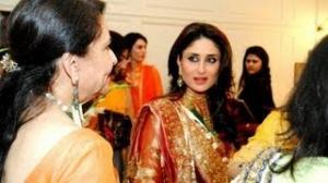 Kareena Kapoor & Sharmila Tagore at Saif's cousins Haldi ceremony Pics