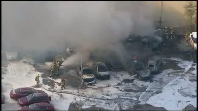 Fiery Plane Crash in Fla. Parking Lot