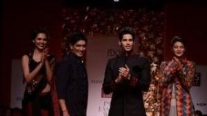 Siddharth Malhotra walks the ramp for Manish Malhotra - WIFW AW'13