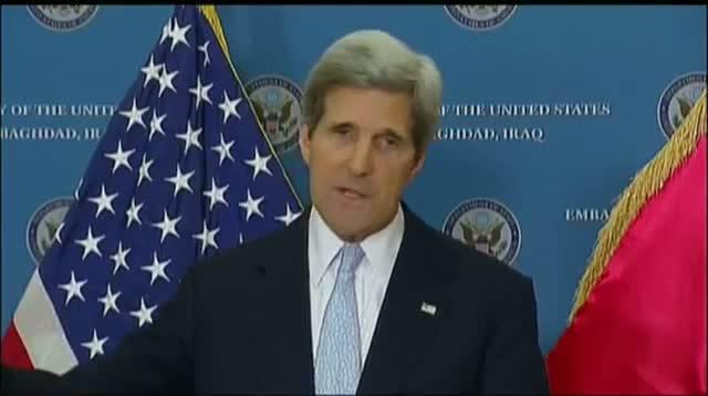 Kerry Warns Iraq on Iran Flights to Syria