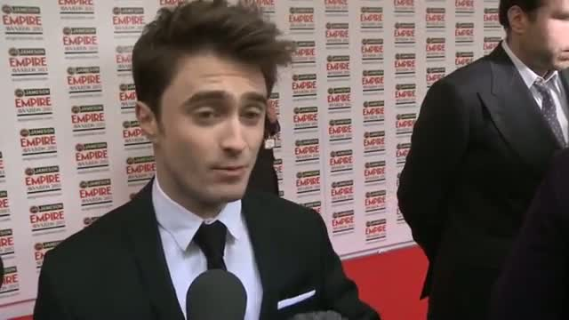 Daniel Radcliffe talks Frankenstein and horror at the Empire Awards.