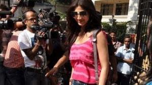 Shilpa Shetty spotted at Sanjay Dutt's House