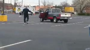 Kung Fu Grandpa In Food Lion Parking Lot