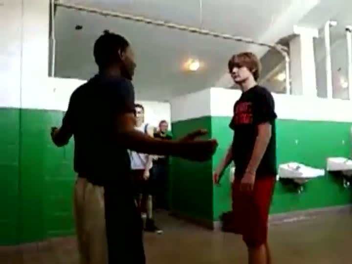 White Boy Beats Down Black Dude Talking Smack