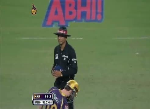 Wicket of Manoj Tiwary taken by Shahbaz Nadeem - DD vs KKR - PEPSI IPL 6 - Match 1