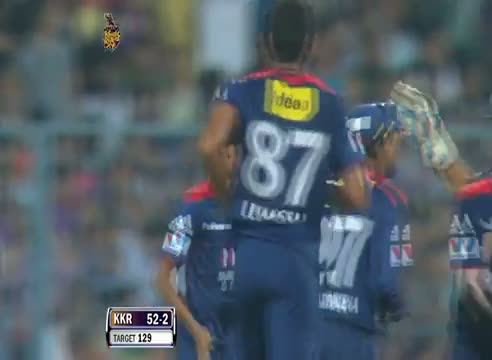 Wicket of Jacques Kallis taken by Shahbaz Nadeem in over 7.2 - DD vs KKR - PEPSI IPL 6 - Match 1