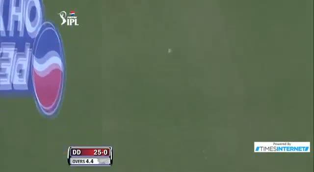 Four hit by David Warner off Samuel Badree - DD vs RR - PEPSI IPL 6 - Match 4