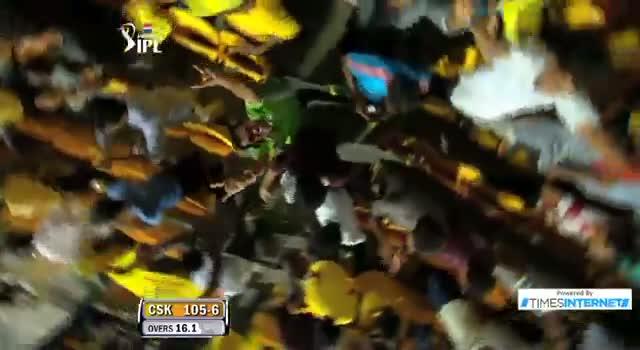 Six hit by MS Dhoni off Harbhajan Singh - CSK vs MI - PEPSI IPL 6 - Match 5